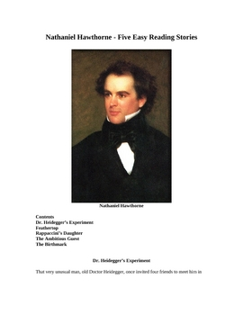 Nathaniel Hawthorne - Five Easy Reading Stories