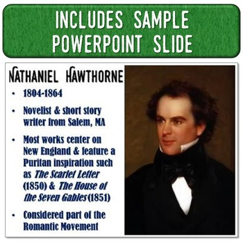 Nathaniel Hawthorne Magic Portrait Video & PowerPoint Slide for Author Study