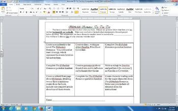 Nathaniel Hawthorne Novel Unit Assessment
