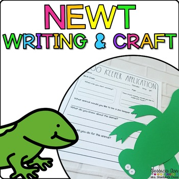 Nathanyl the Newt {Animal Craftivity and Writing Prompts!}