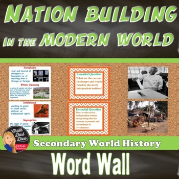 Nation Building in the Modern World WORD WALL Posters (World History)