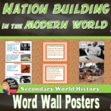 Nation Building in the Modern World WORD WALL Posters (Wor