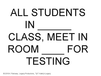 State Testing Prep - helpful signage for teachers Common Core CAASPP