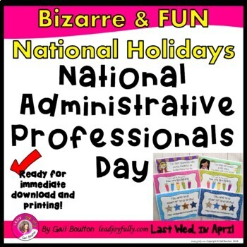 National Administrative Professionals' Day (April 25, 2018)