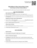 National African American Museum of History and Culture- Artifact Scavenger Hunt