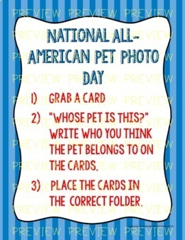 National All American Pet Photo Day (July 11th)