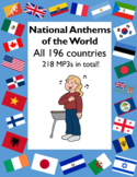 MP3s - National Anthems of the World - All 196 Countries - MP3 format- 218 files
