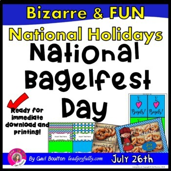 National Bagelfest Day (July 26th)