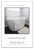 National Bathtub Day - October 7th Crossword Puzzle Word Search Bell Ringer
