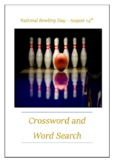 National Bowling Day - August 14th Crossword Puzzle Word Search Bell Ringer