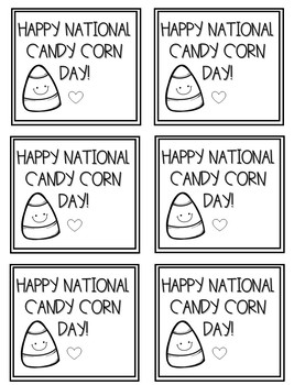 National Candy Corn Day Tag