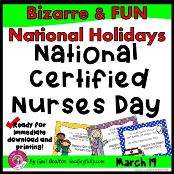 National Certified Nurse's Day (March 19th)