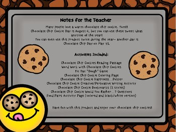 National Chocolate Chip Cookie Day Activities