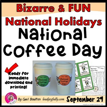 National Coffee Day (Sept. 29th)