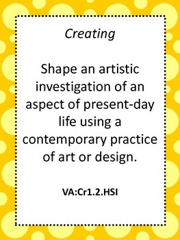 National Core Art Standards for High School Proficient