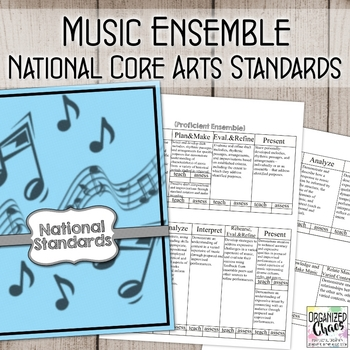 National Core Arts Standards for Music Ensembles: Planning and Assessment