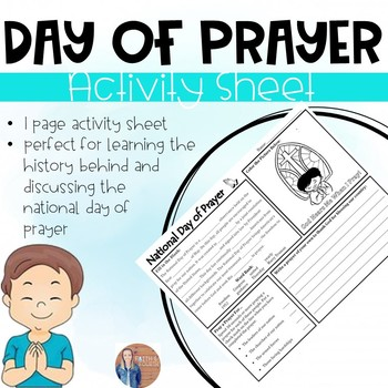 National Day of Prayer Activity Sheet/Morning Work