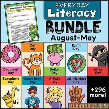 300 Text Evidence Reading Passages & Writing Prompts - National Holidays Bundle