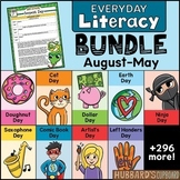 300 Text Evidence Reading & Writing Prompts / National Days Bundle / Google Opt.