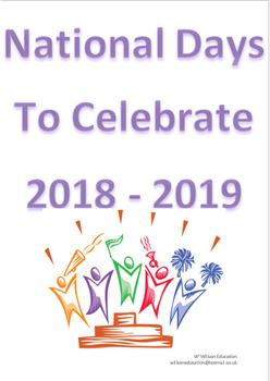 National Days Of Celebration 2018 - 2019