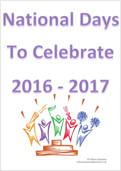 National Days To Celebrate Booklet 2016-2017