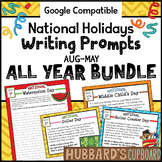 300+ Nat'l Holidays Daily Writing Prompts- Writing Task Cards- Google Classroom