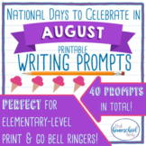 National Days to Celebrate in August Writing Prompts