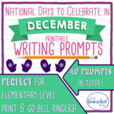 National Days to Celebrate in December Writing Prompts