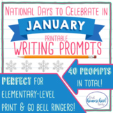 National Days to Celebrate in January Writing Prompts