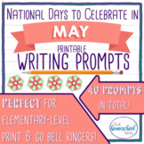 National Days to Celebrate in May Writing Prompts