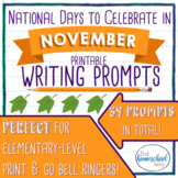 National Days to Celebrate in November Writing Prompts