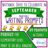 National Days to Celebrate in September Writing Prompts