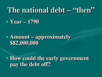 National Debt: Connecting the Past and Present