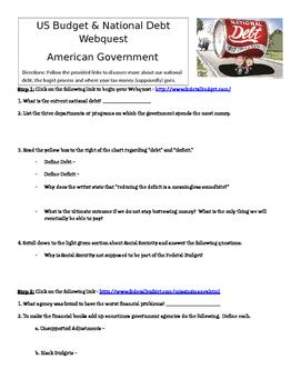 National Debt Webquest