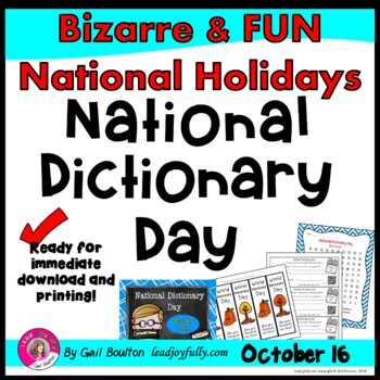 National Dictionary Day (October 16th)