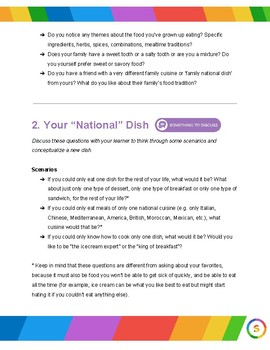 National Dishes (thematic unit)
