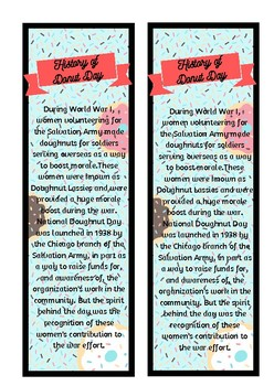 National Donut Day Bookmark