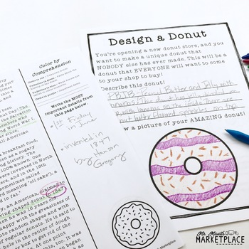 National Donut Day Reading and Math Activities- Grades 2-5