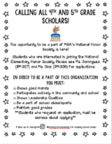 National Elementary Honor Society Promotional Flyer