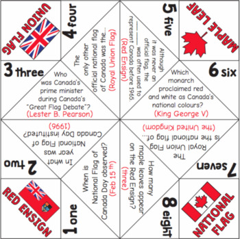 National Flag of Canada Day Cootie Catchers
