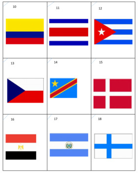 National Flags Sort Game