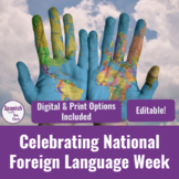 National Foreign Language Week Celebration: Activities & EDITABLE Choice Board