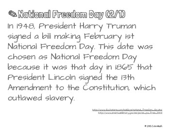 National Freedom Day Coloring Page by Math Skill