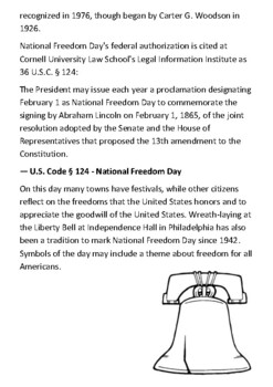 National Freedom Day Handout