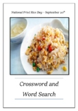 National Fried Rice Day - September 20th Crossword Puzzle Word Search Bell Ring
