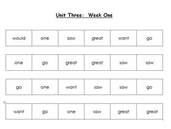 National Geographic First Grade Sight Word Mats