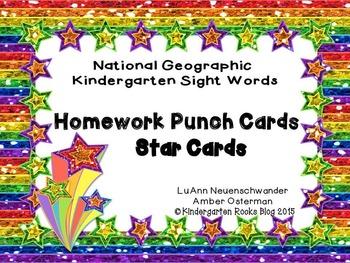 National Geographic Homework Star Cards for Kindergarten
