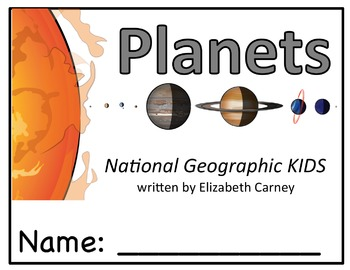 National Geographic KIDS:  Planets- Reader Response Booklet-Level K