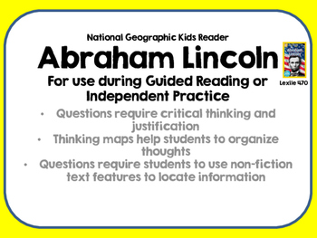 National Geographic Kids Abraham Lincoln Reader Lexile 470