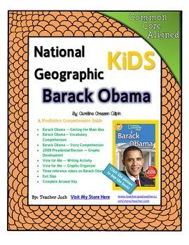 National Geographic Kids Barack Obama {Nonfiction Comprehension Guide}